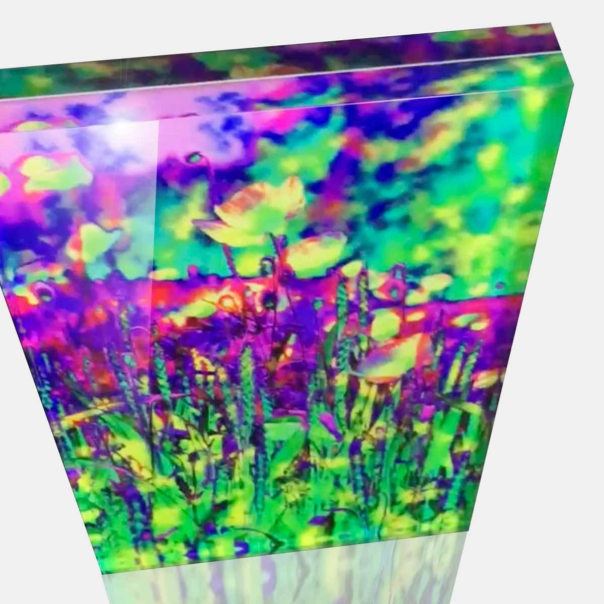 Cornelia Hagmann Contemporary Artist Artwork Acrylic Glass Sculpture La Galleria Art_Design Summer Meadow