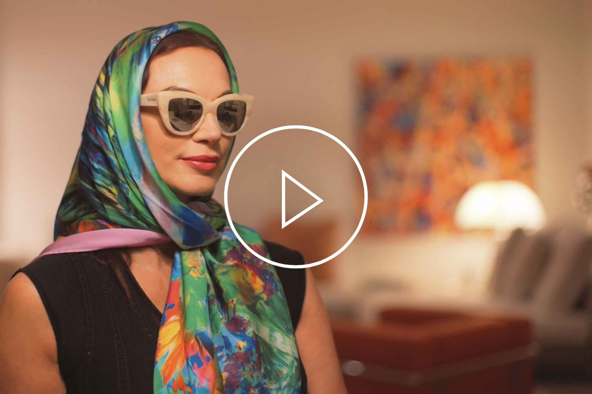 "La Galleria Contemporary Artist Cornelia Hagmann Silk Scarves Movie Vintage Style Head Scarf ""Audrey"", Seidenschal, sciarpa di seta, foulard soie,"