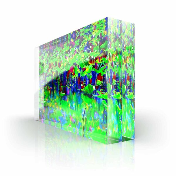 Acrylglass Sculpture Cornelia Hagmann Contemporary Artist Acrylglas Skulpturen Fine Art Sculptures La Galleria Art & Design GREEN POND